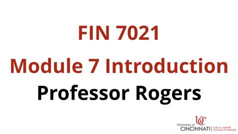 Thumbnail for entry FIN7021 Module 7