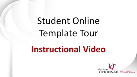 Thumbnail for entry Student Online Template Tour