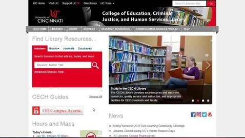 Tour of UC Libraries Website