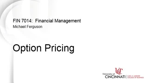Thumbnail for entry Option Pricing
