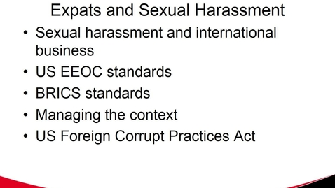 Thumbnail for entry MGMT 7017 Expats & Sexual Harassment