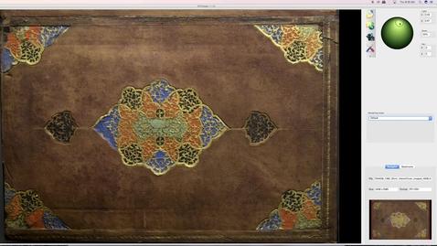 Thumbnail for entry RTI on Katib Khosru wa Shirin (Interior Cover)