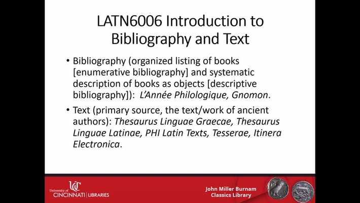 Bibliography and Text/Lucretius