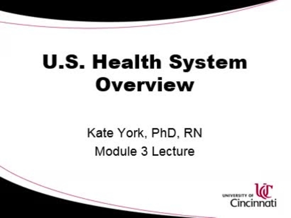 International Student Health System Short Course Mod 3