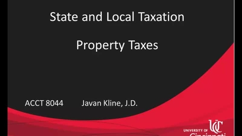 Thumbnail for entry Property Taxes Part 1