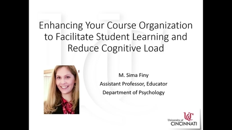 Thumbnail for entry Enhancing Your Course Organization_Finy