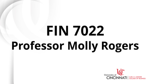 Thumbnail for entry FIN 7022 Module 6 Introduction