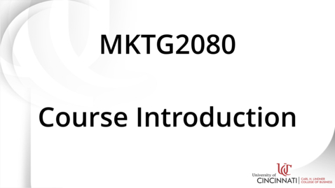 Thumbnail for entry MKTG2080 Module 2 Introduction