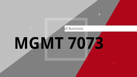 Thumbnail for entry MGMT7073 Dan Peat Introduction