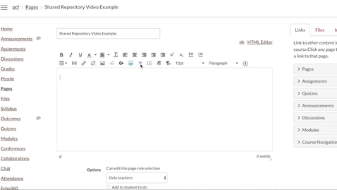 Thumbnail for entry Finding Videos in the Shared Repository from Canvas