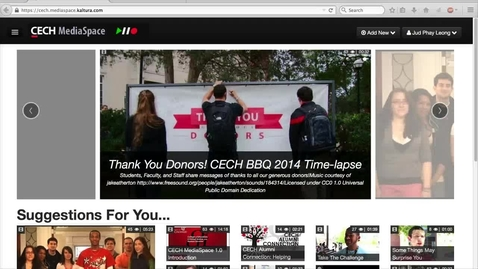 Thumbnail for entry Managing and Editing Video in CECH MediaSpace 1.5