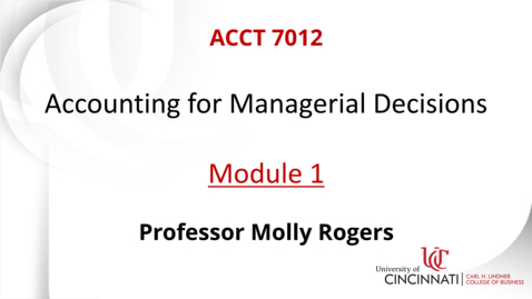 Thumbnail for entry Introduction to the Accounting Equation