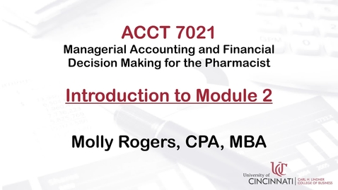 Thumbnail for entry ACCT7021 Module 2 Introduction