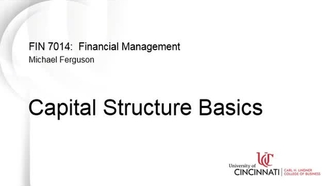Thumbnail for entry Capital Structure Basics