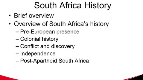 Thumbnail for entry MGMT 7017 South Africa History