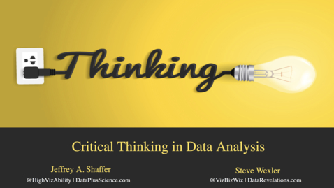 Thumbnail for entry Critically Thinking in Data Analysis Part 1