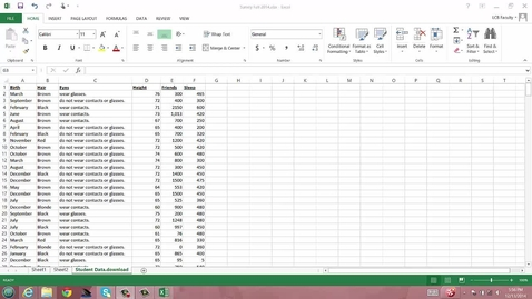 Thumbnail for entry Summarizing Quantitative Data with Student Data