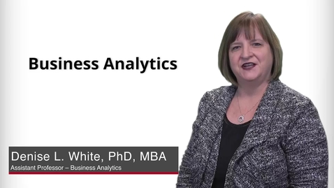 Thumbnail for entry Program Presentation - Business Analytics