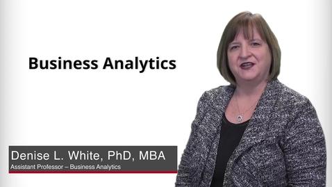 Thumbnail for entry Program Presentation - Business Analytics