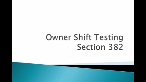 Thumbnail for entry Ownership Shift Testing