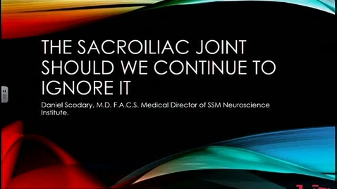 Thumbnail for entry Sacroiliitis: Do We Continue to Ignore It?