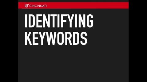 Thumbnail for entry Identifying Keywords