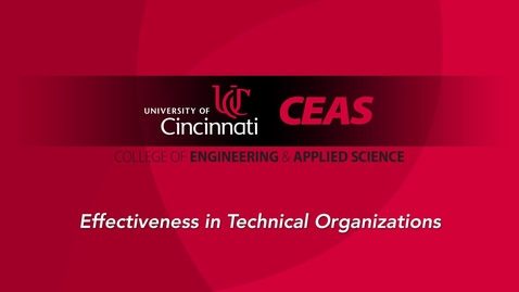 Thumbnail for entry Effectiveness in Technical Organizations - Conscious/Competent