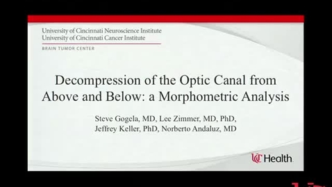 Thumbnail for entry Decompression of the Optic Canal from Above and Below: A Morphometric Comparison