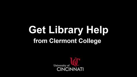 Thumbnail for entry Get Library Help from Clermont College