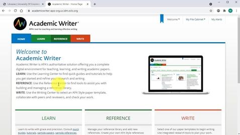 Thumbnail for entry Academic Writer Basics