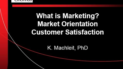 Thumbnail for entry Market Orientation