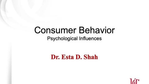 Thumbnail for entry Consumer Behavior 1