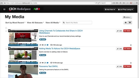 Thumbnail for entry Sharing Video with Embed and Direct Links In MediaSpace