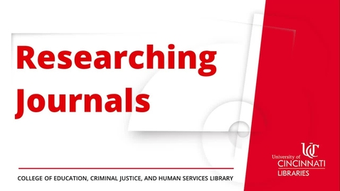 Thumbnail for entry Researching Journals