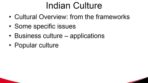 Thumbnail for entry Indian Culture