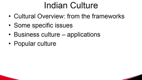 Thumbnail for entry MGMT 7017 Indian Culture