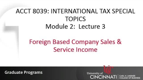Thumbnail for entry Foreign Based Company Sales & Service Income