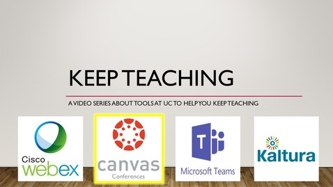 Thumbnail for entry Keep Teaching - Canvas Conferences