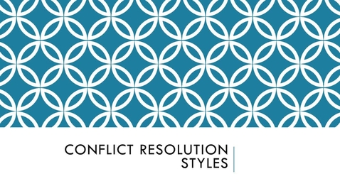 Thumbnail for entry BLAW2080_Conflict Resolution Styles