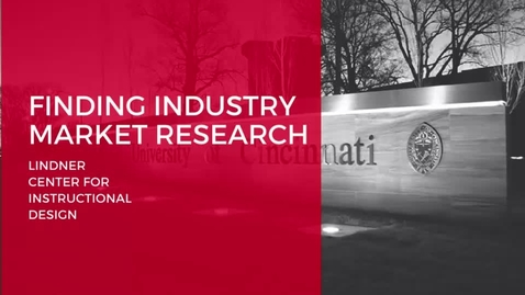 Thumbnail for entry Finding Industry Market Research