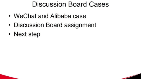 Thumbnail for entry Discussion Board Cases