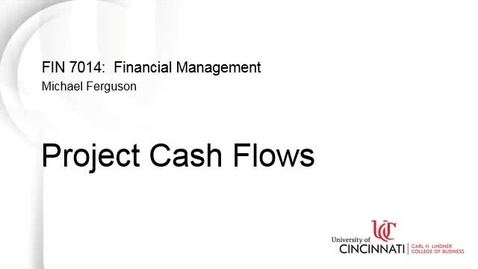 Thumbnail for entry Project Cash Flows