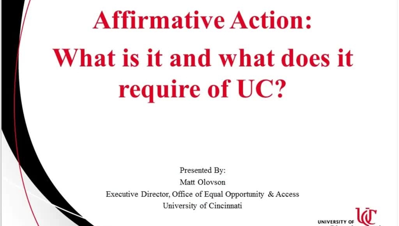 Affirmative Action 11.28.16 Part 1 Success Factors Ask-the-Expert