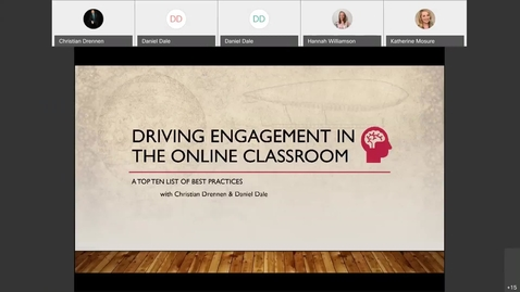 Thumbnail for entry Christian Drennen - Driving Engagement in the Online Classroom | Friday 9/11