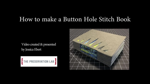 Thumbnail for entry How to Make a Button Hole Stitch Book