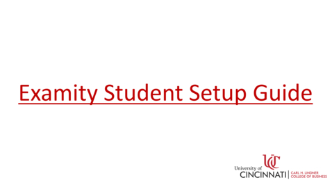 Thumbnail for entry Examity Student Setup Guide