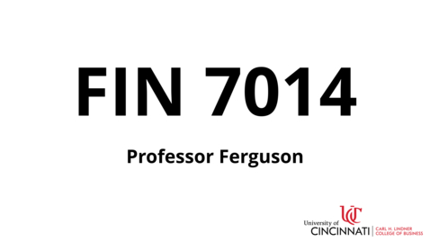 Thumbnail for entry FIN 7014_Course Introduction