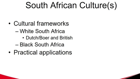 Thumbnail for entry South Africa Culture