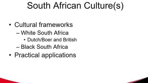 Thumbnail for entry MGMT 7017 South Africa Culture
