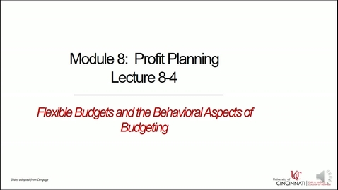 Thumbnail for entry Flexible Budgets and the Behavioral Aspects of Budgeting